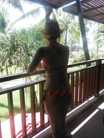 Ramada Khao Lak Resort: view from balacony could see pool/grounds and beach