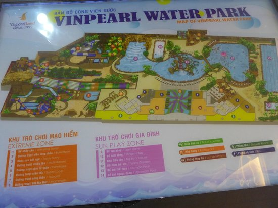 Map - Picture of Vinpearl Land Water Park - Royal City, Hanoi ...