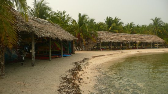 Long Caye Resort: some of the vast array of sports equipment