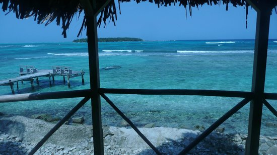 Long Caye Resort: view from my cabana