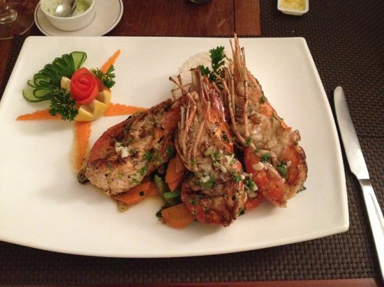 Green Island Beach Restaurant: Grilled prawn