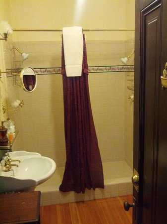 1859 Historic National Hotel: Two-headed shower