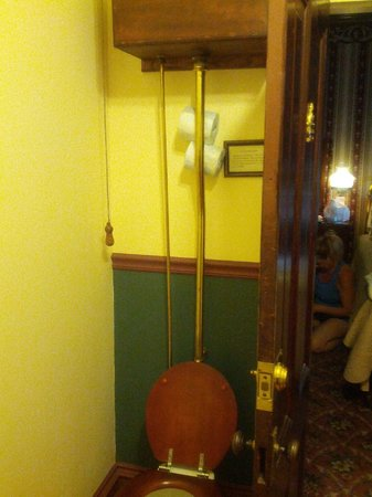 1859 Historic National Hotel: Pull-Chain toilet