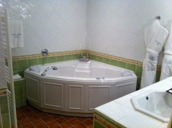 Auberge de Cassagne & Spa: Jacuzzi dans la salle de bain