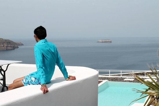 Thermes Luxury Villas: BREATH TAKING VIEW OF THE AEGEAN SEA