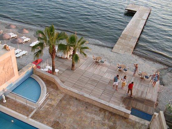 Coastlight Hotel: вид из номера на пляж