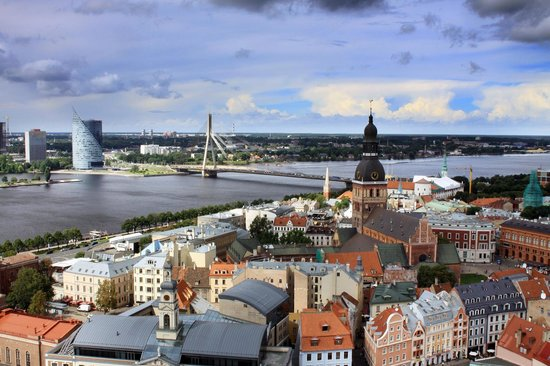 View of Riga from St Peter's Church Tower: Вид на старую Ригу