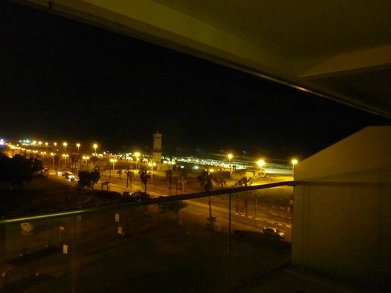 West Boutique Hotel Ashdod : View from balcony at night