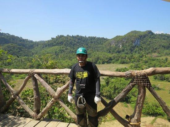 Ugong Rock : Start of Zip Line
