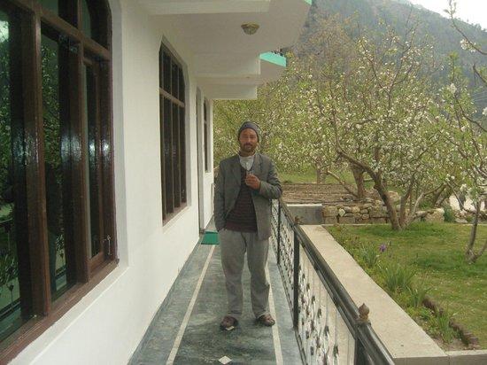 Prakash Regency : Mr Mohan Prakash at front of the hotel.