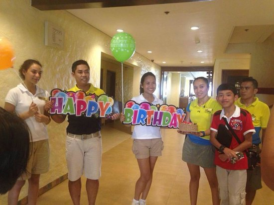 Microtel Inn & Suites by Wyndham Boracay: Birthday surprise