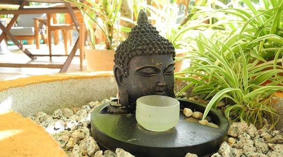 Lemongrass Lodge: Zen Garden in Lemongrass Villa terrace