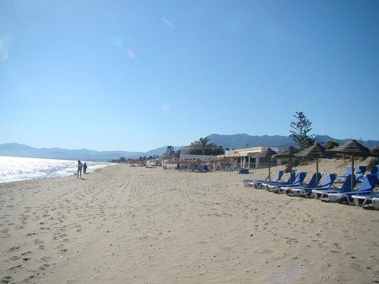 Marbella Playa Hotel : Plage devant l'hôtel