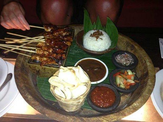 Rama Candidasa Resort & Spa: Satay Platter at Rama Candidasa