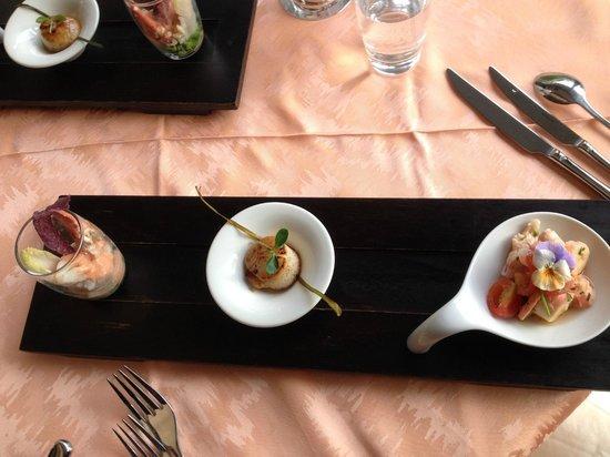 La Brasera: Vorspeise Fischvariationen