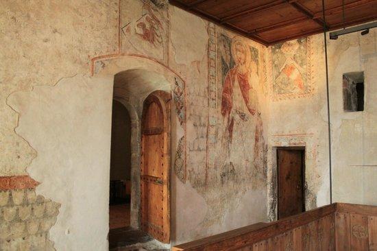 Schloss Tirol - Südtiroler Museum für Geschichte: Wandmalereien sehr gut erhalten