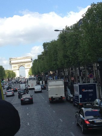 L'Open Bus Tour : champs elysees