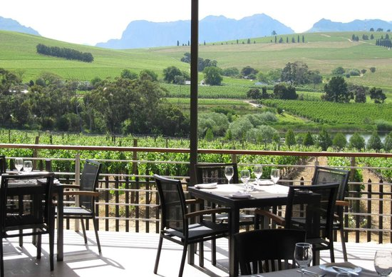 The Restaurant at Clos Malverne: The lovely view