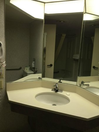 Settle Inn & Suites La Crosse : bathroom sink