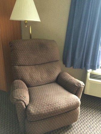 Settle Inn & Suites La Crosse: Recliner (I used it for my bag)