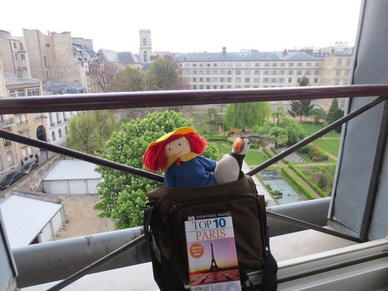 "Hôtel Observatoire Luxembourg : For our Grandaughter, We took ""her friends"" Madeleine and Pablo"