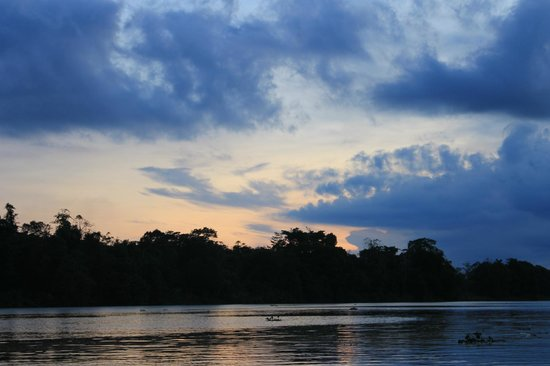Abai Jungle Lodge: Tramonto