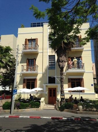 The Rothschild Hotel - Tel Aviv's Finest: Hotel against a perfect blue sky