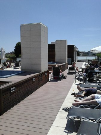 Hotel Villamarina Club: Jacuzzi on roof terrace