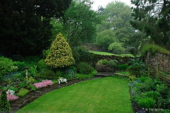 Old Shoulder of Mutton : The garden pretty even in the rain.