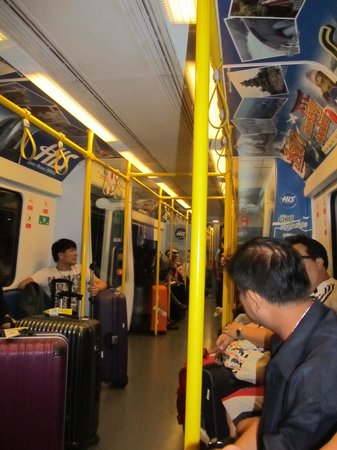 Airport Rail Link: Inside the train carriage