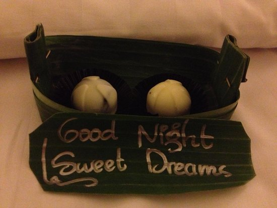 Ayung Resort Ubud: Every night on our pillow chocolates!