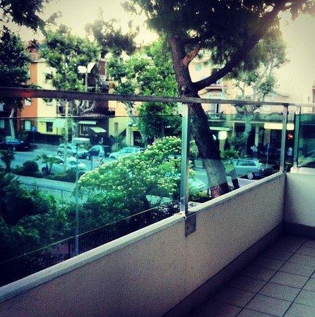 Luxor Hotel Rimini: Вид с балкона