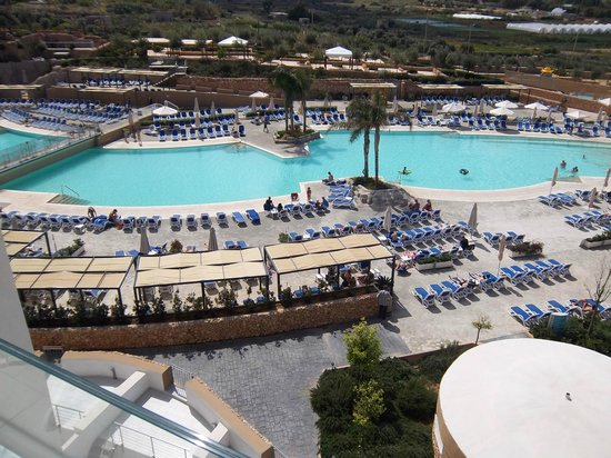 db Seabank Resort + Spa: View over Pools from our 6th floor Balcony
