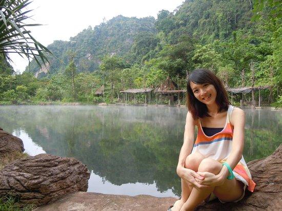 The Banjaran Hotsprings Retreat: The natural hotspring lake