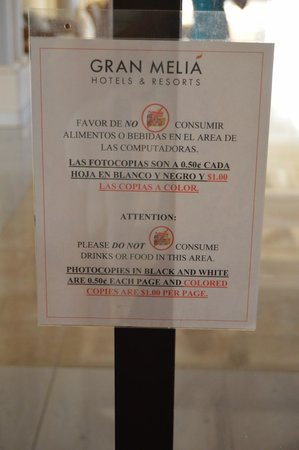 Melia Coco Beach: nothing is free here