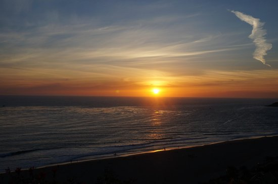 The Ritz-Carlton, Laguna Niguel: Spectacular unset from the balcony