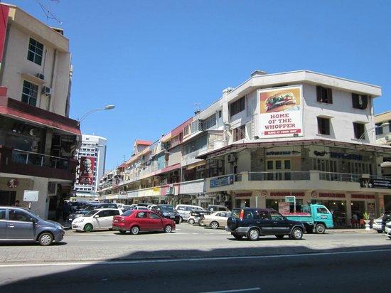 Hyatt Regency Kinabalu: KFC and Burger King are across the road