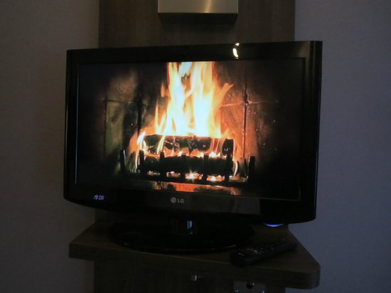 Holiday Inn Express Amsterdam - South: Fuego relajante si no quieres ver la tv
