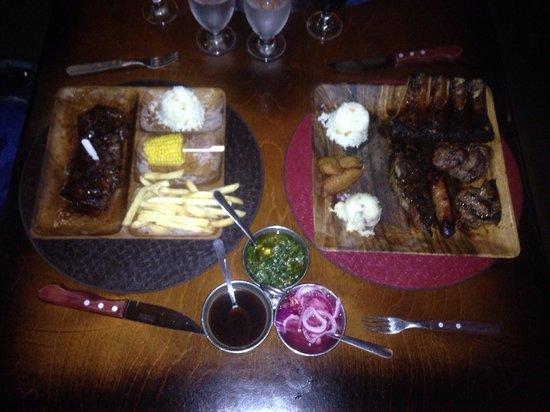 El Gaucho Argentine Grill : Black Angus steak and meat sampler