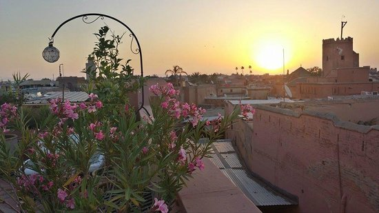 Riad l'Orangeraie: Sunrise over the terrace