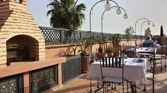 Riad l'Orangeraie: The Riad's rooftop terrace