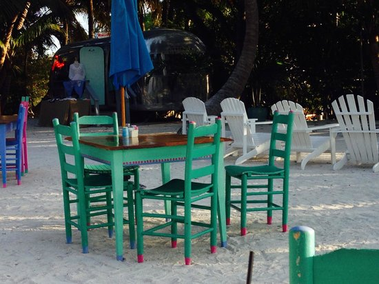 Morada Bay : Colorful seating during the day, nature's sunset colors at dusk.