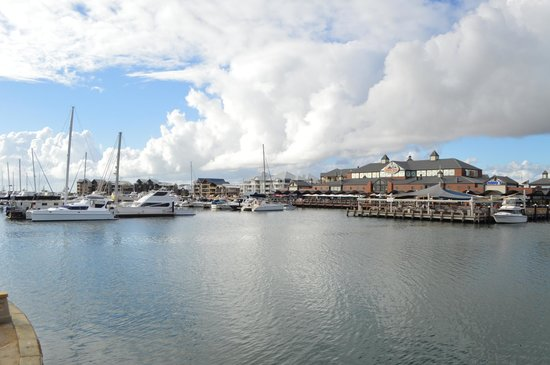 Dolphin Quay Apartment Hotel: View on the marina