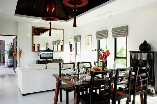 The Bell Pool Villa Resort Phuket: Hall & Dinning with kitchen