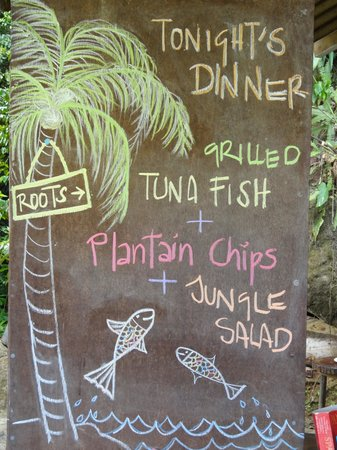 Roots Jungle Retreat: Dinner Menu - So Yummy