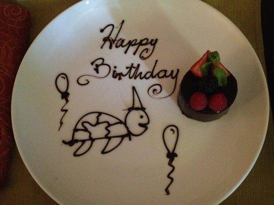 Belmond Maroma Resort & Spa: Birthday amenity
