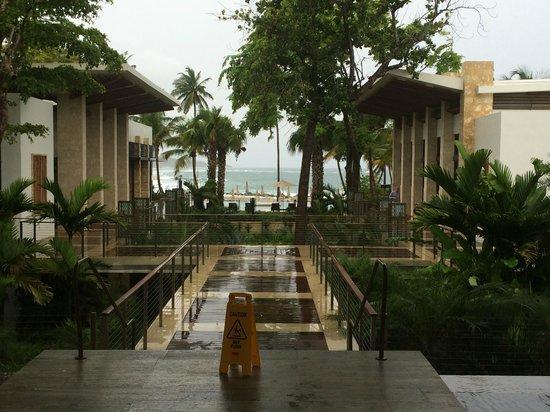 Dorado Beach, a Ritz-Carlton Reserve: From lobby looking out to beach