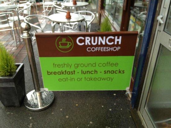 Crunch Coffeeshop: Freshly Ground Coffee. Breakfast, Lunch and Snacks
