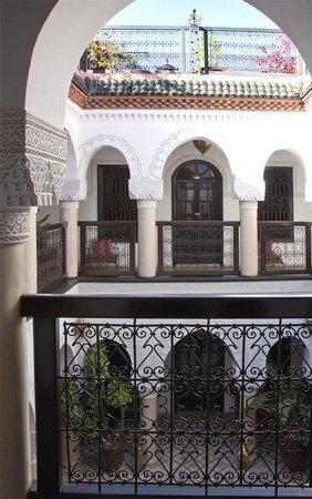 Riad Adriana: View across the balcony