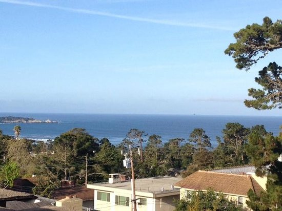 Horizon Inn & Ocean View Lodge: View from #121. Cropped out rooftops outside room.